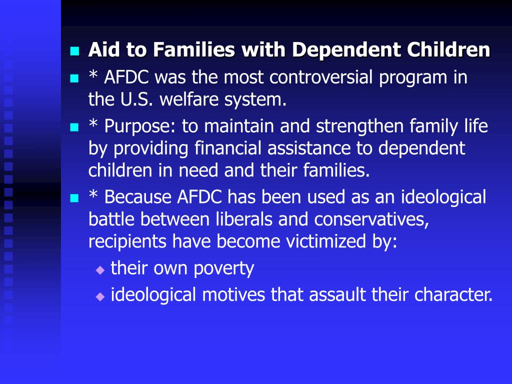 Aid to Families with Dependent Children