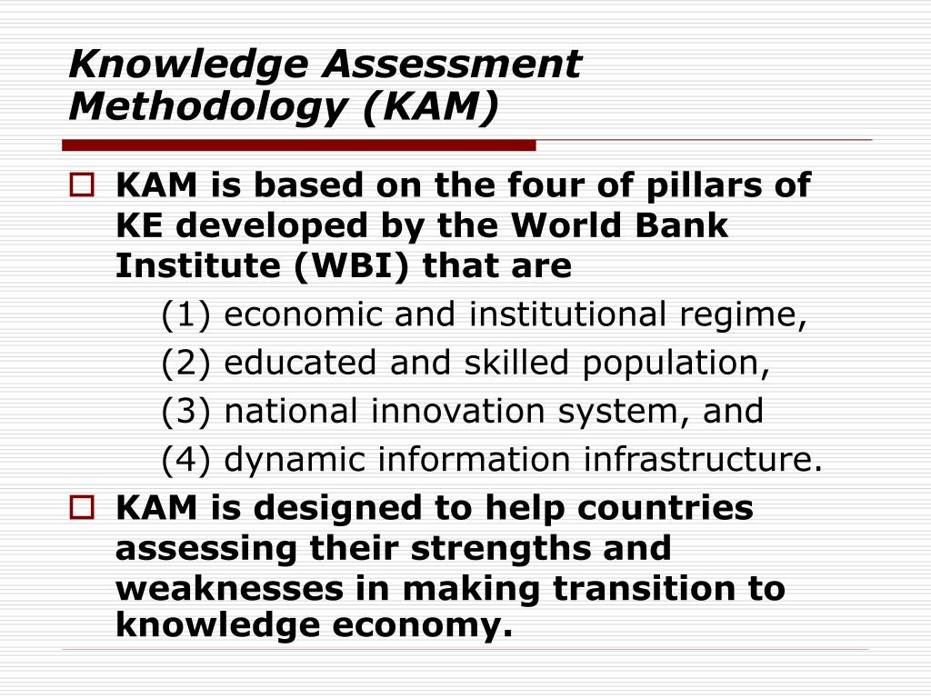 Knowledge Assessment Methodology (KAM)