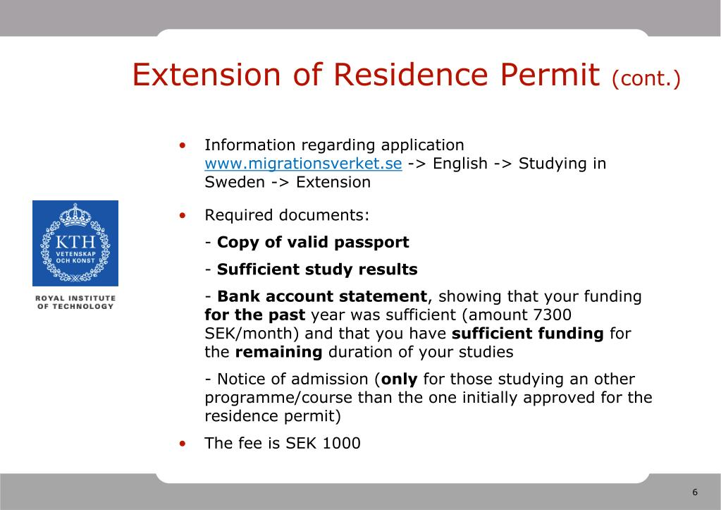 Extension of Residence Permit