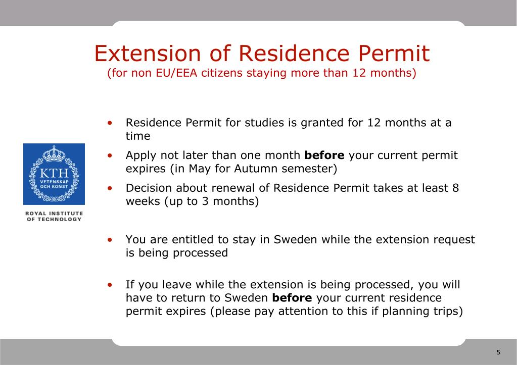Extension of Residence