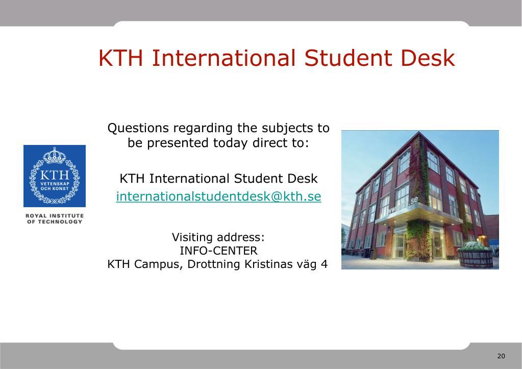 KTH International Student Desk