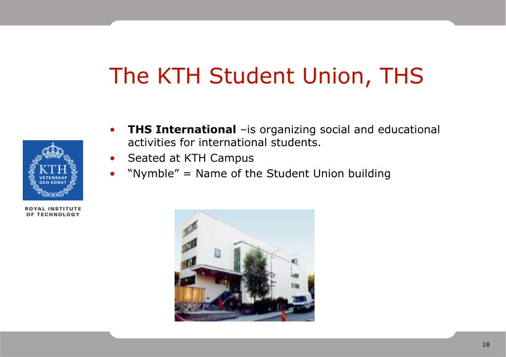 The KTH Student Union, THS