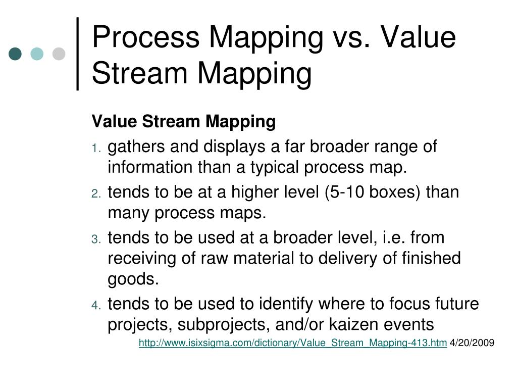 Process Mapping vs. Value Stream Mapping