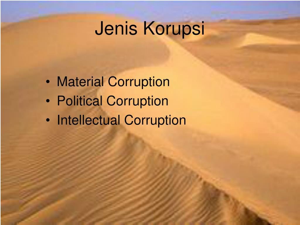 Jenis Korupsi