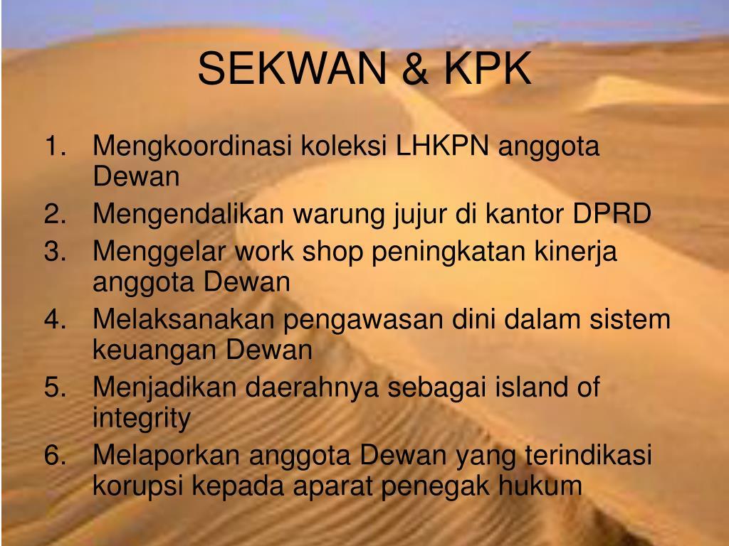 SEKWAN & KPK