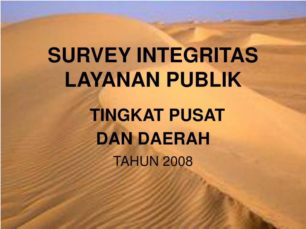 SURVEY INTEGRITAS