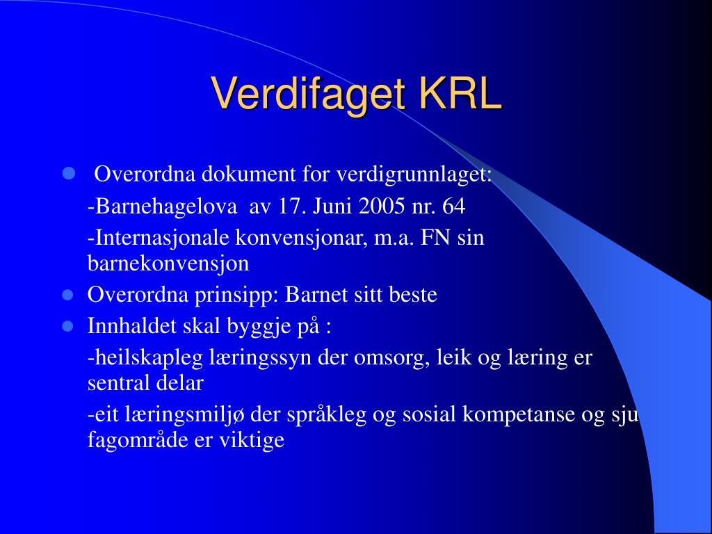 Verdifaget KRL