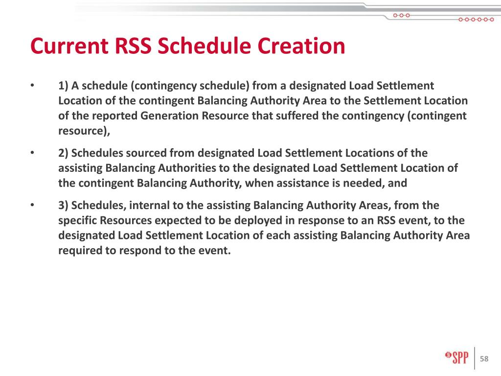 Current RSS Schedule Creation