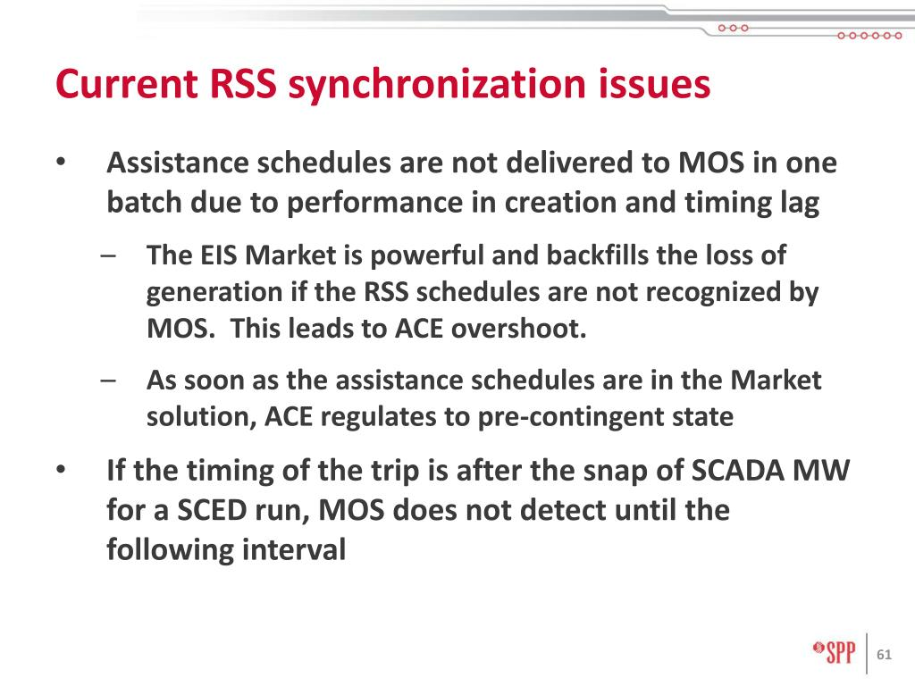 Current RSS synchronization issues