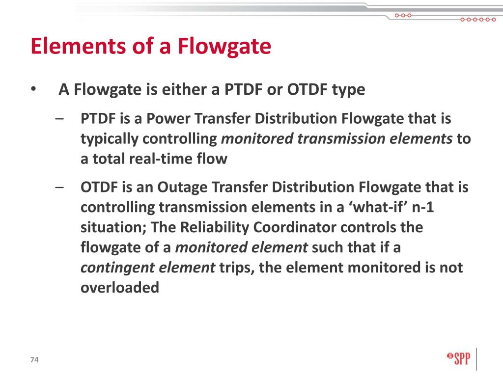 Elements of a Flowgate