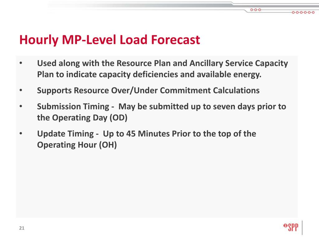 Hourly MP-Level Load Forecast