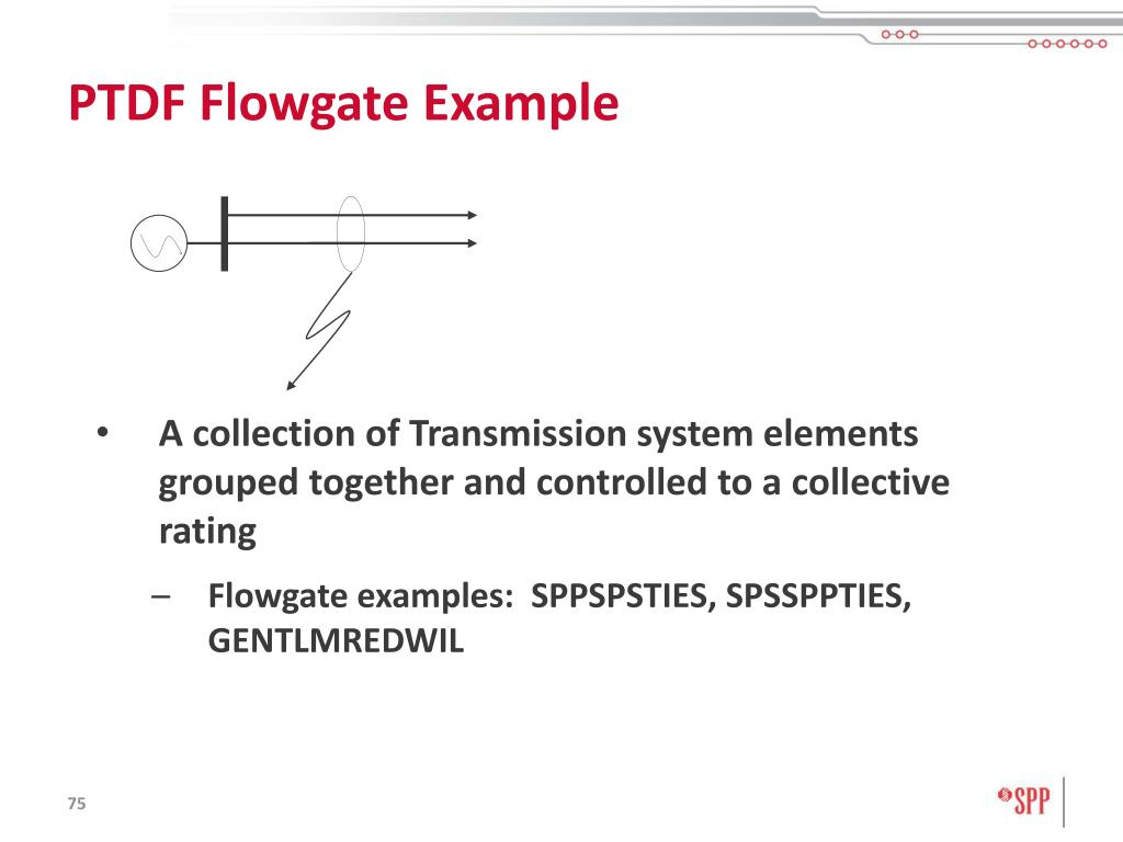 PTDF Flowgate Example