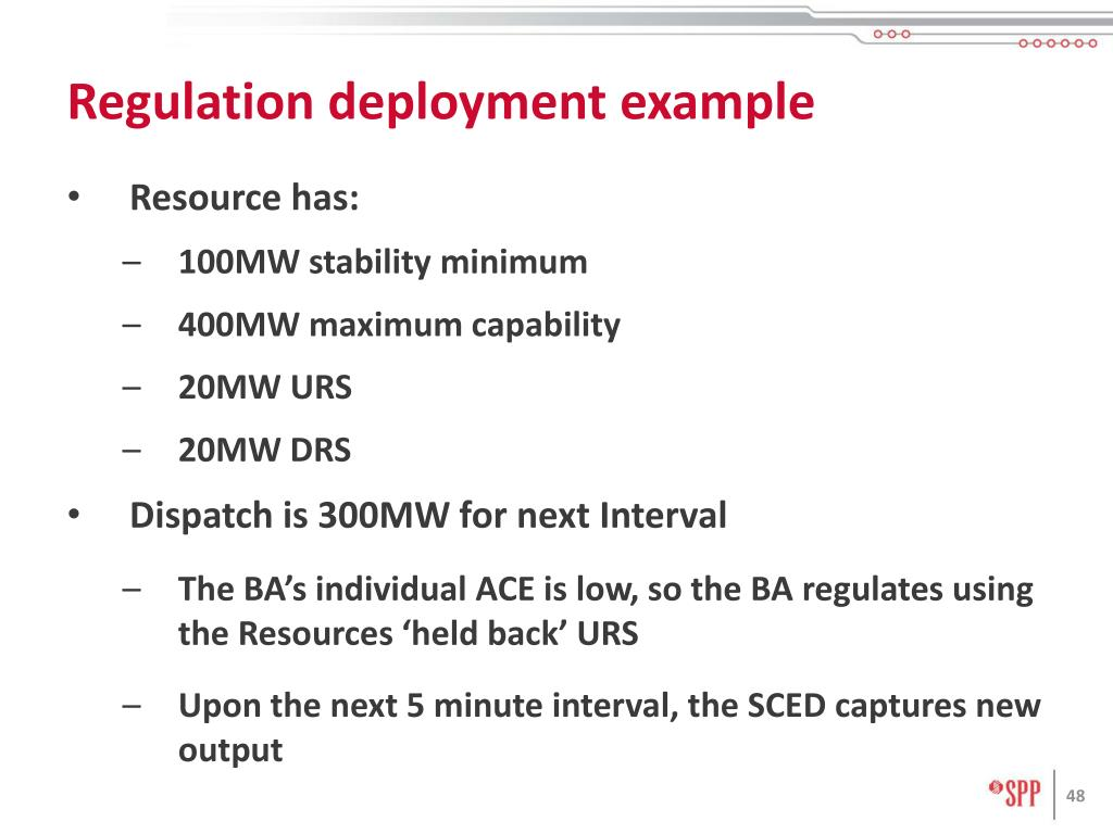 Regulation deployment example