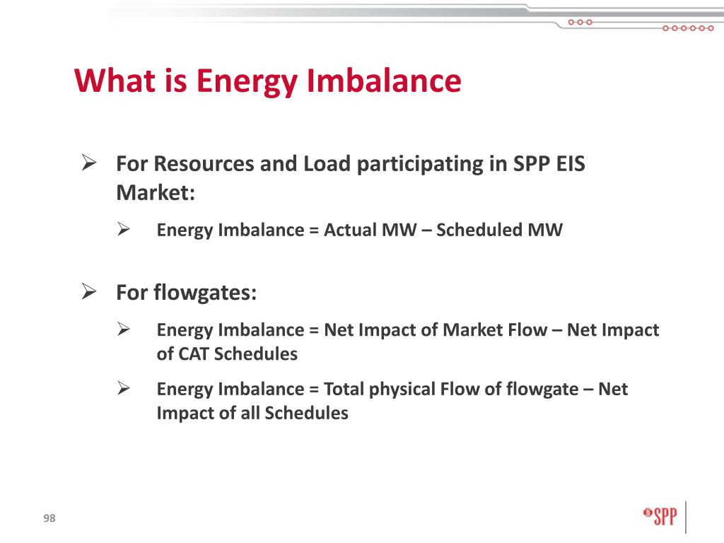What is Energy Imbalance