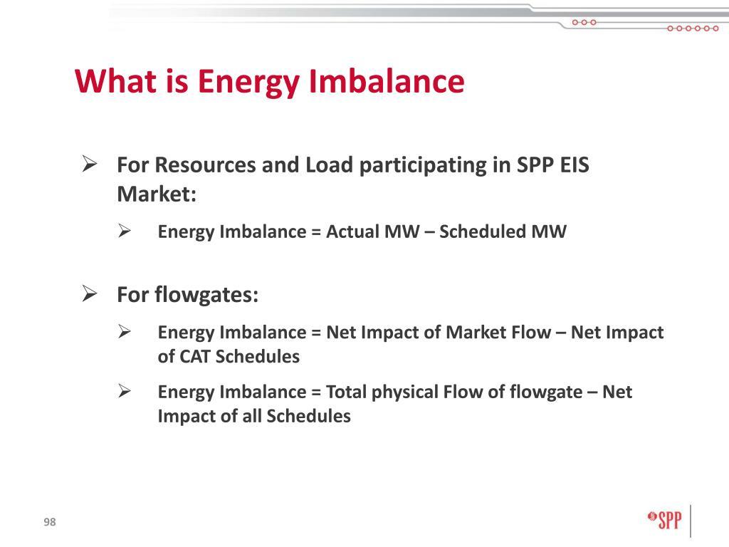 What is Energy Imbalance