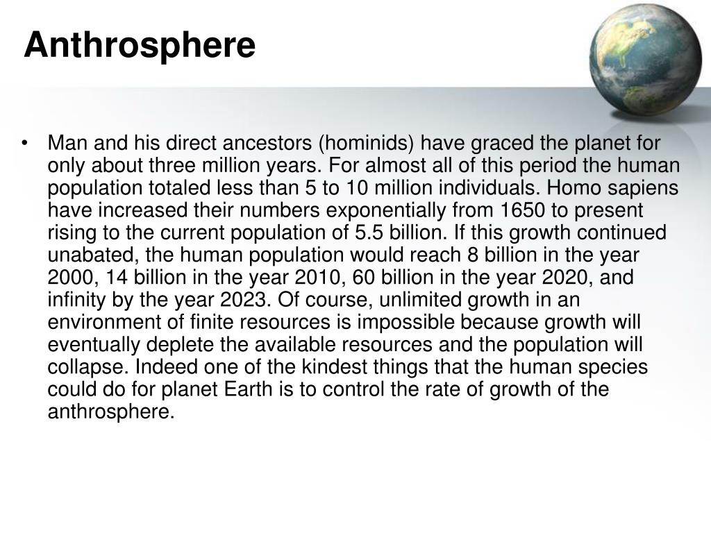 Anthrosphere