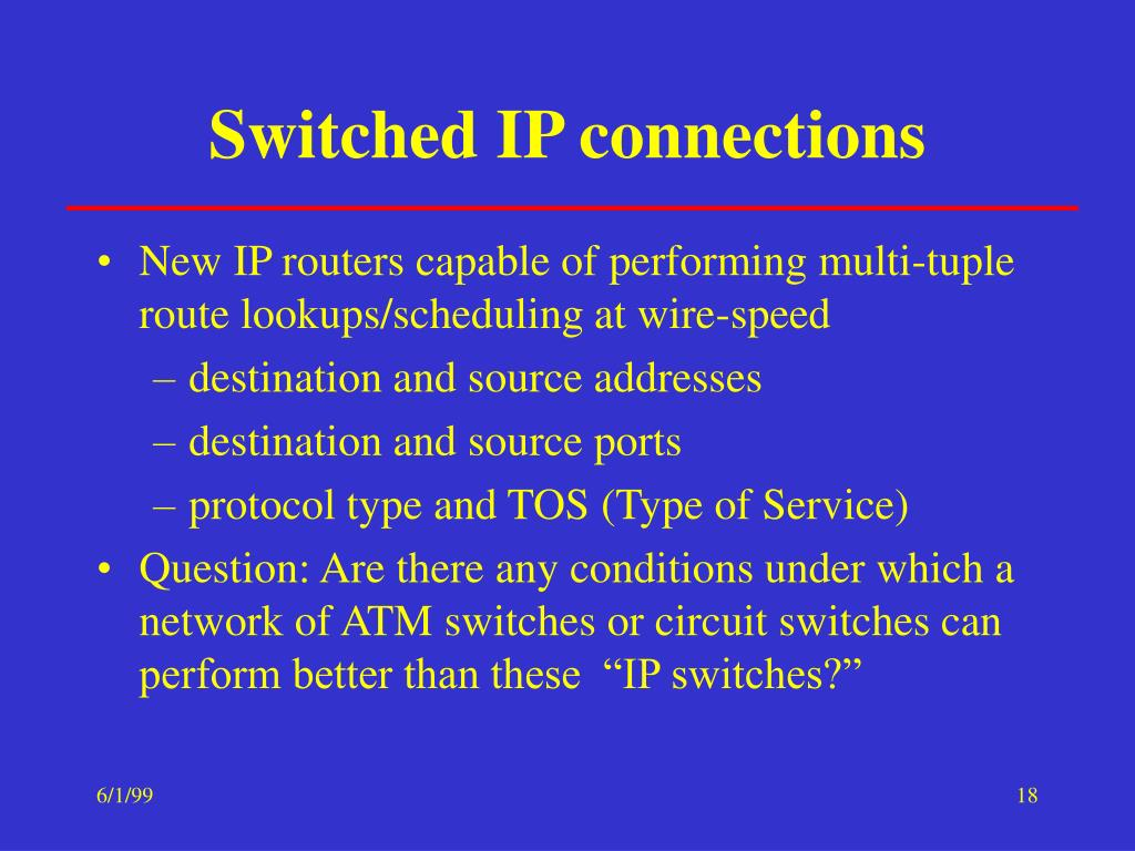 Switched IP connections