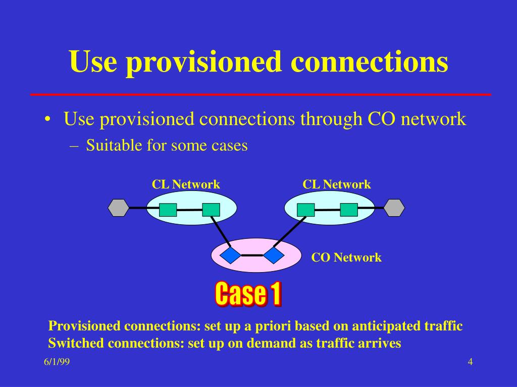 Use provisioned connections