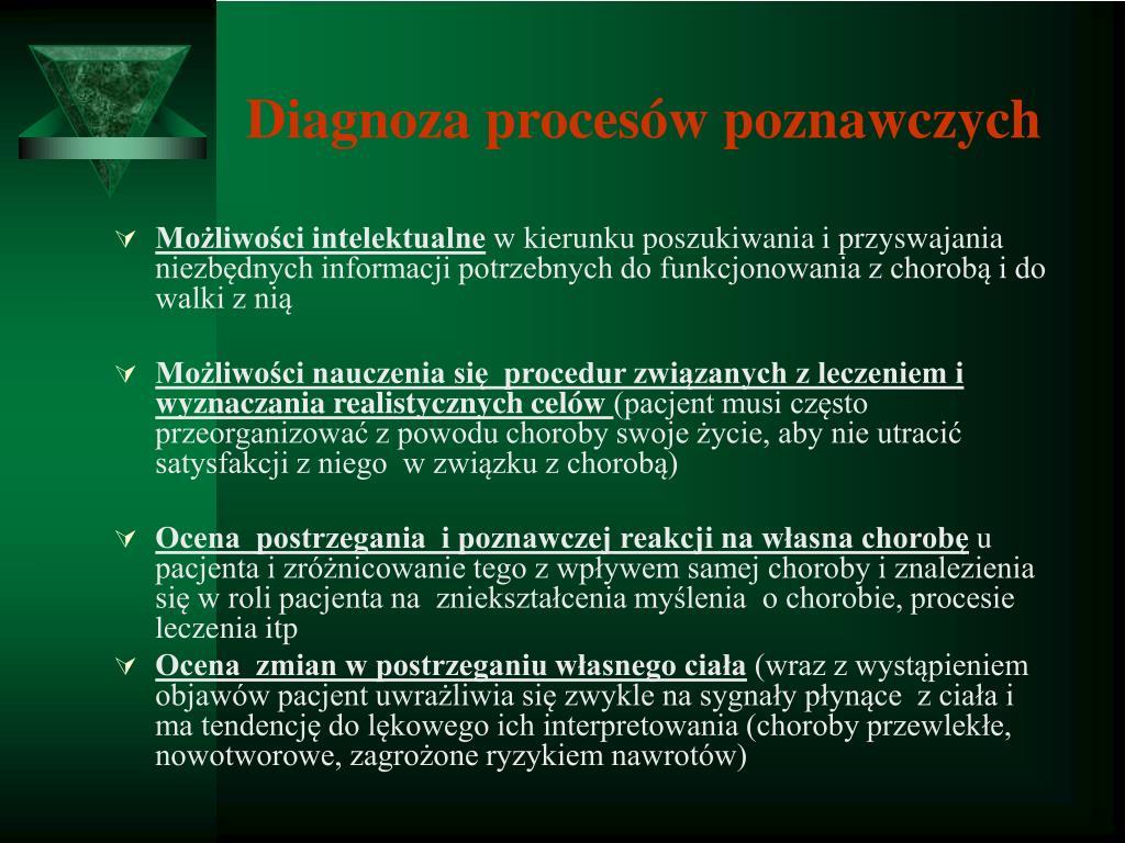 Diagnoza procesów poznawczych