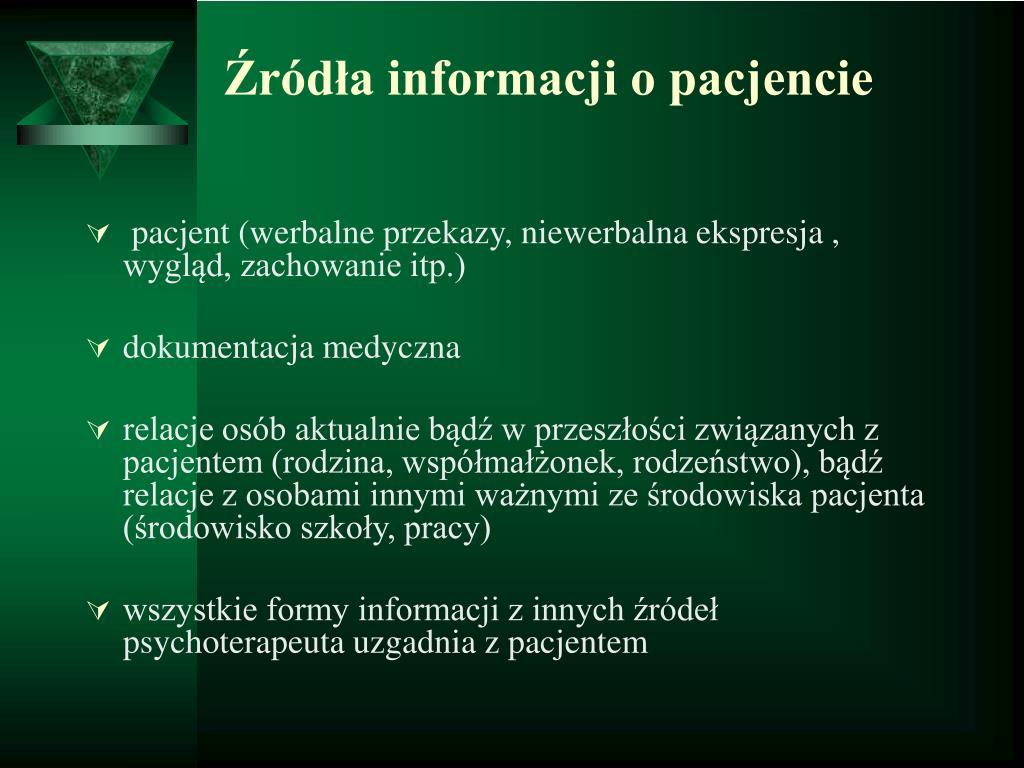Źródła informacji o pacjencie