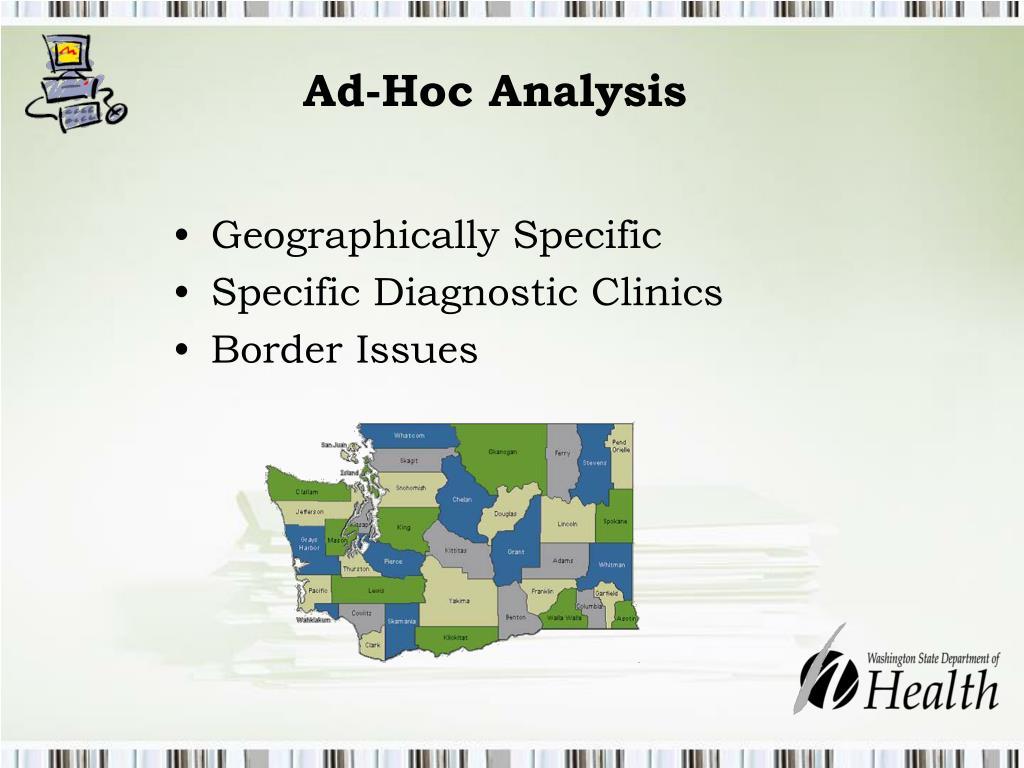 Ad-Hoc Analysis