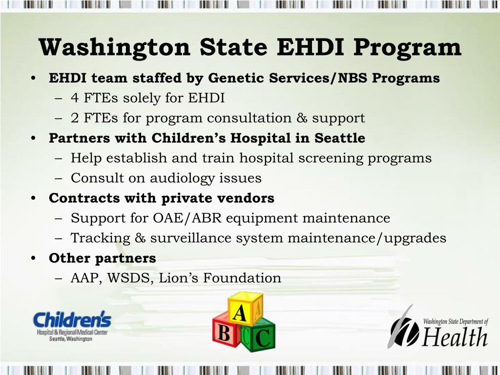 Washington State EHDI Program