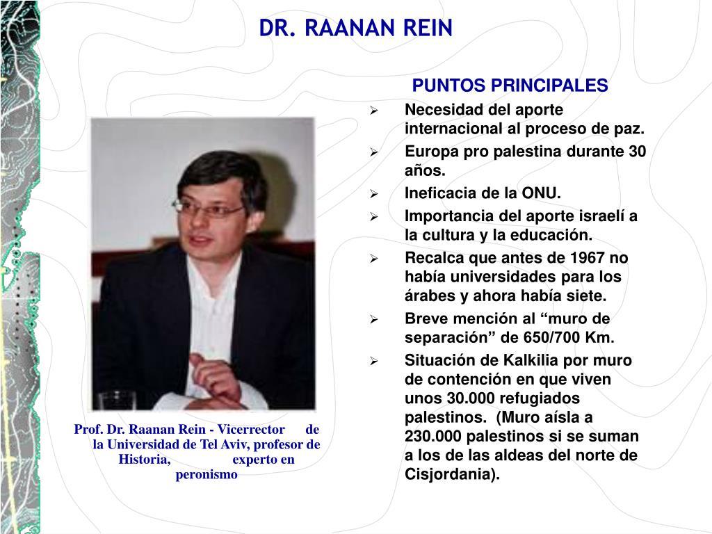 DR. RAANAN REIN