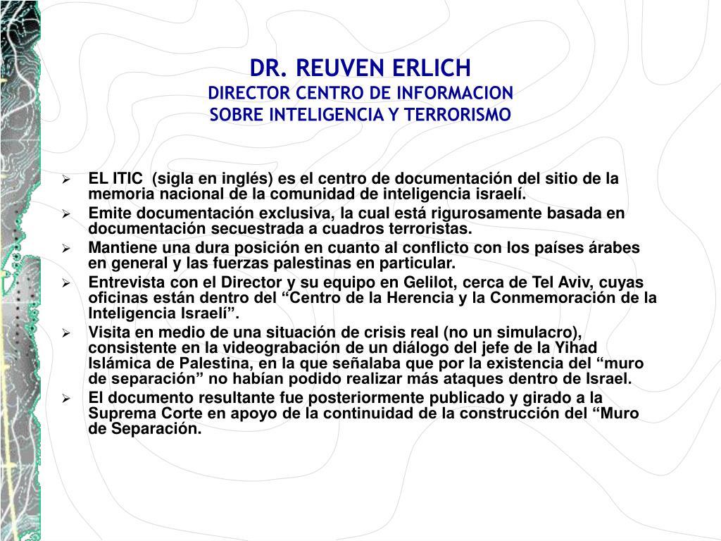 DR. REUVEN ERLICH