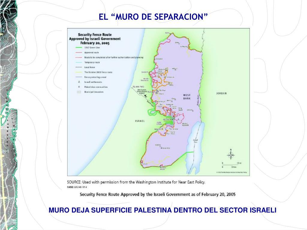 """EL """"MURO DE SEPARACION"""""""