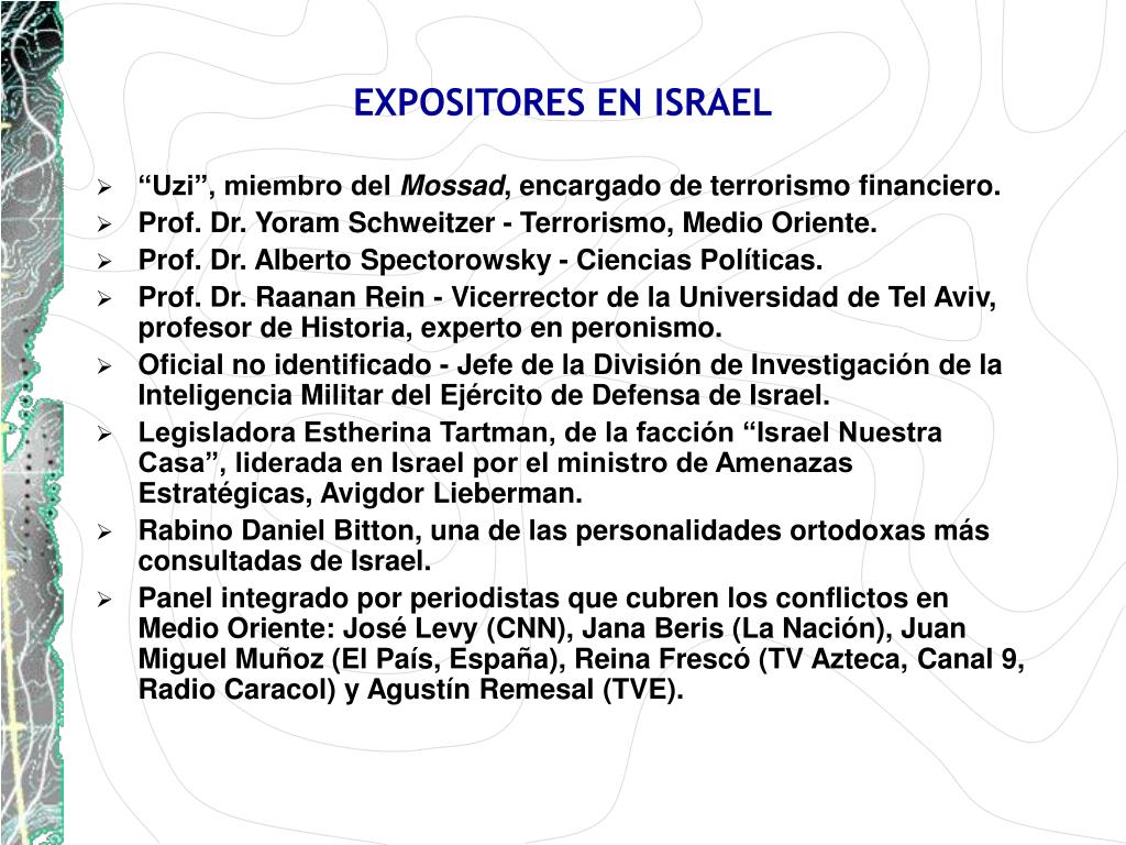 EXPOSITORES EN ISRAEL