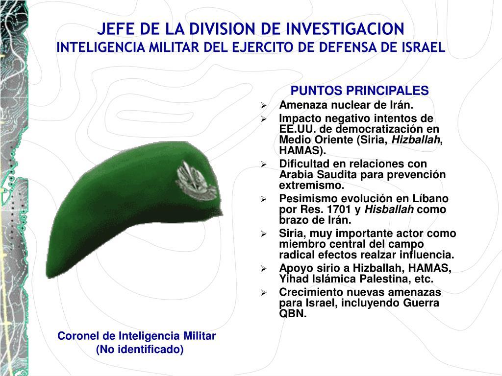 JEFE DE LA DIVISION DE INVESTIGACION