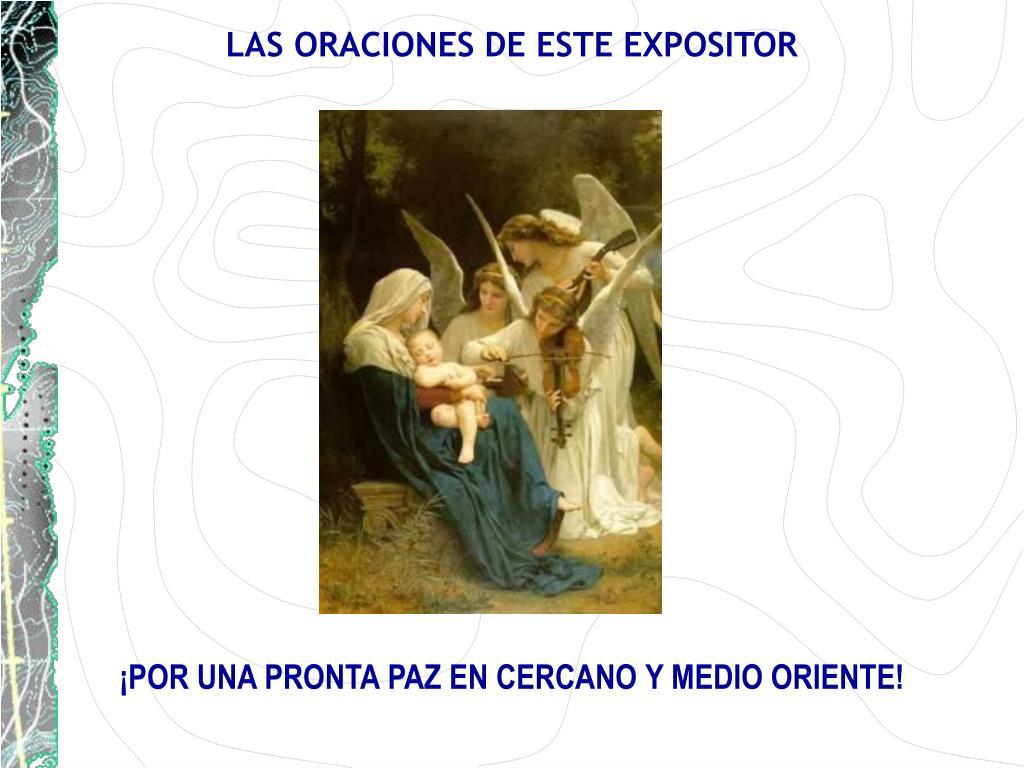 LAS ORACIONES DE ESTE EXPOSITOR