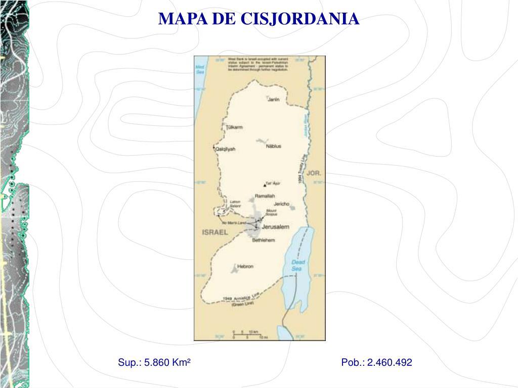MAPA DE CISJORDANIA