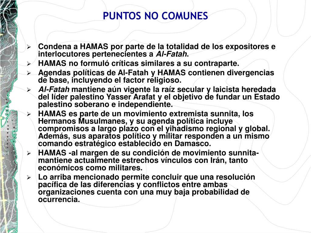 PUNTOS NO COMUNES