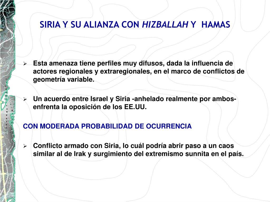 SIRIA Y SU ALIANZA CON