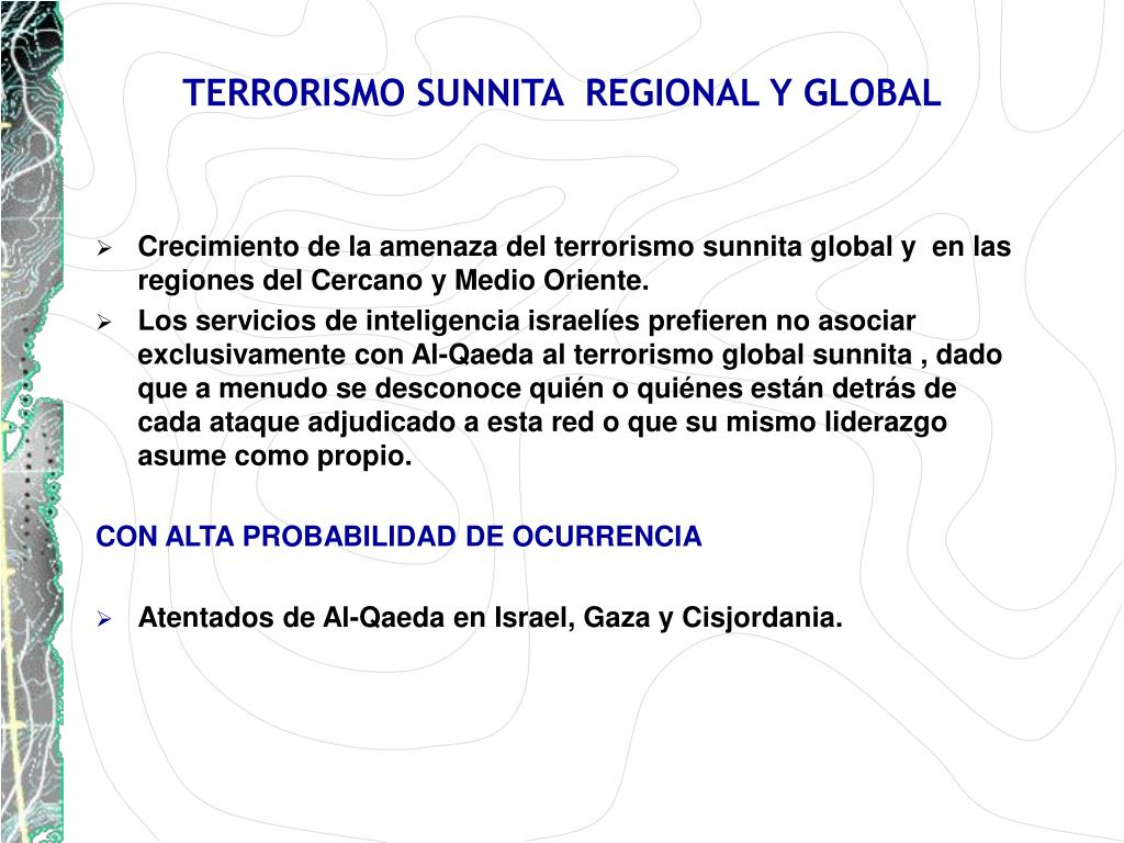 TERRORISMO SUNNITA  REGIONAL Y GLOBAL
