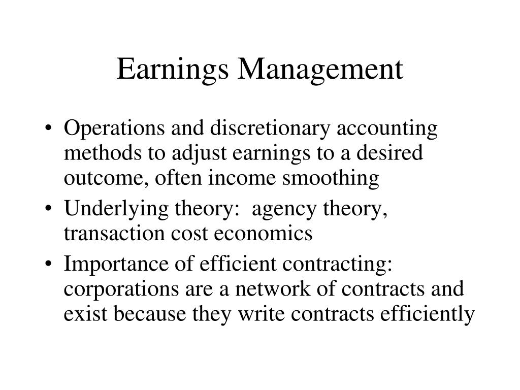 Stock options and earnings management