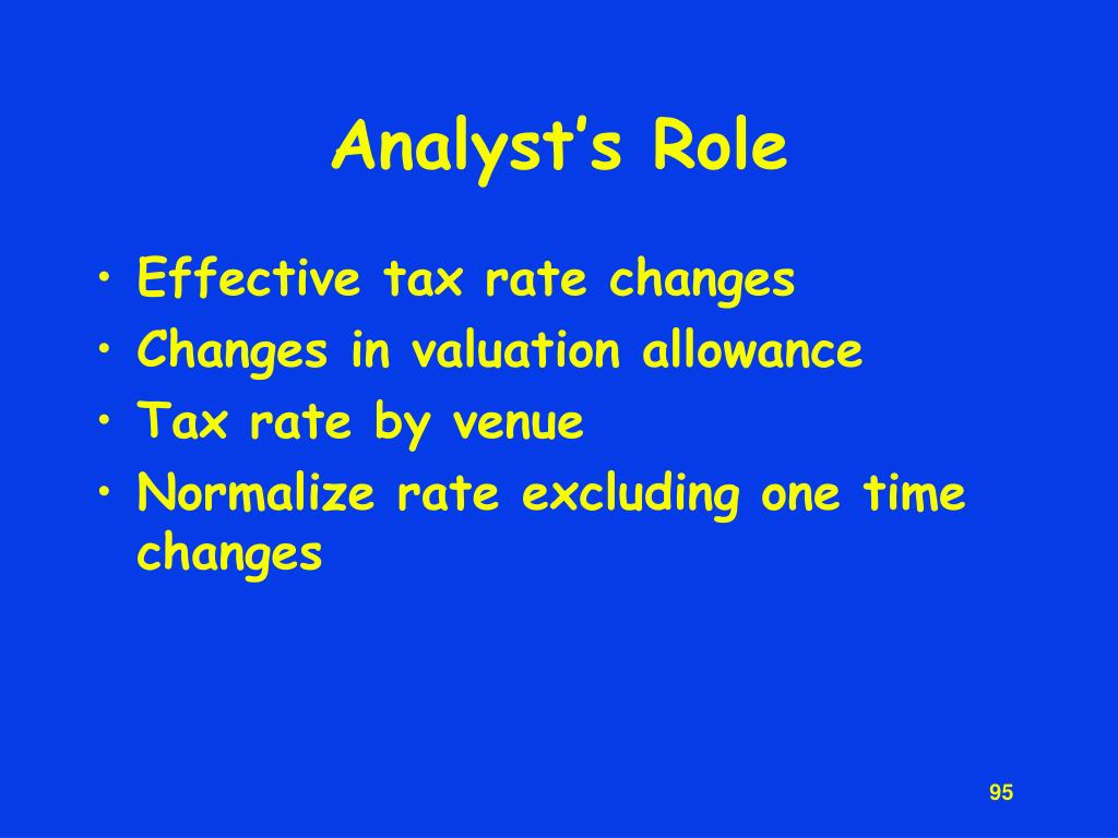 Analyst's Role