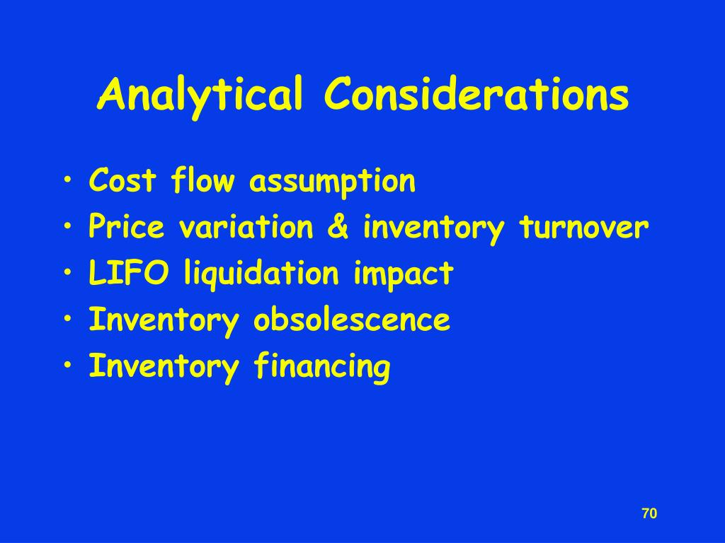 Analytical Considerations