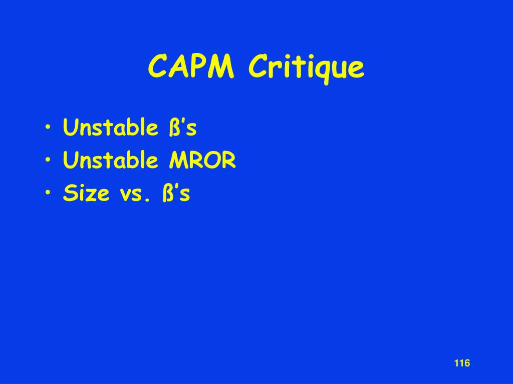 CAPM Critique