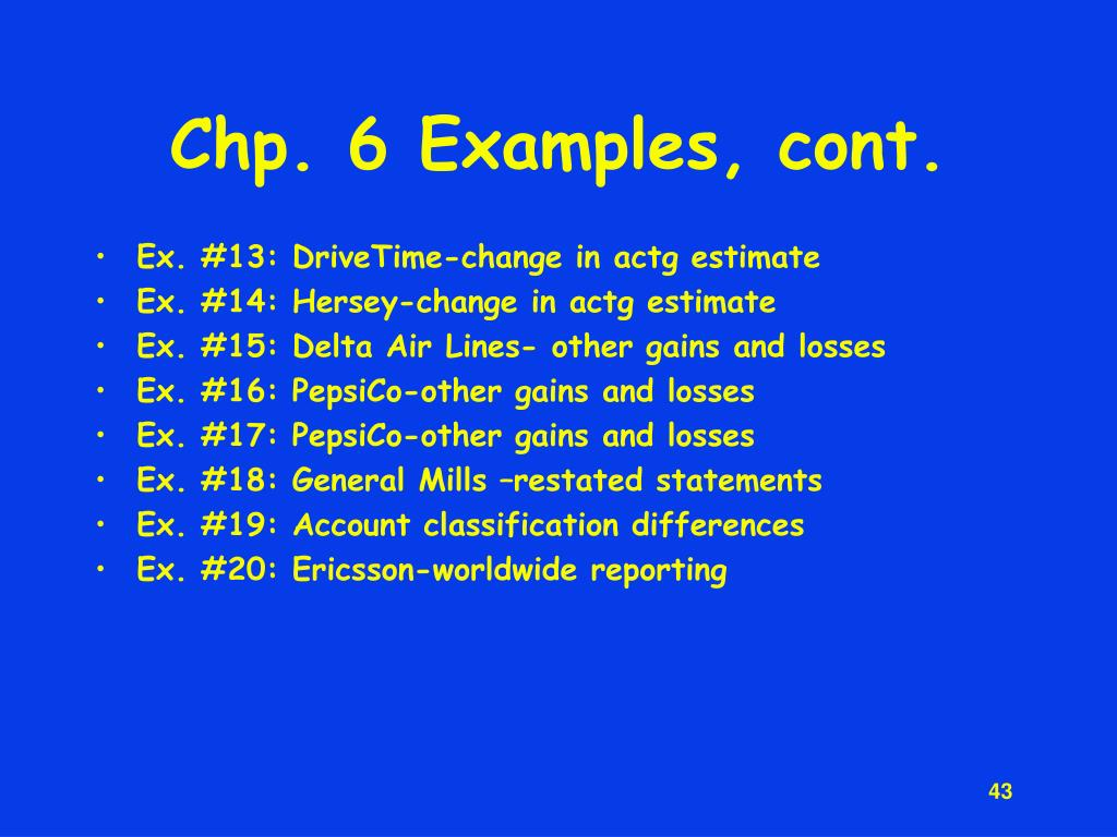 Chp. 6 Examples, cont.
