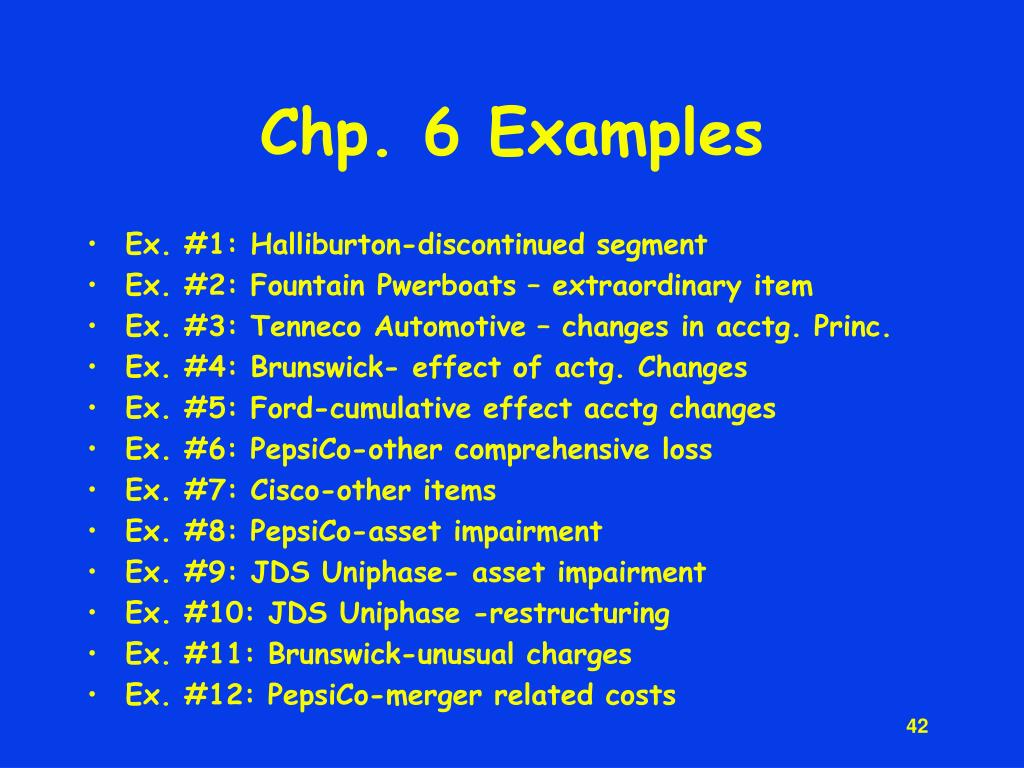 Chp. 6 Examples