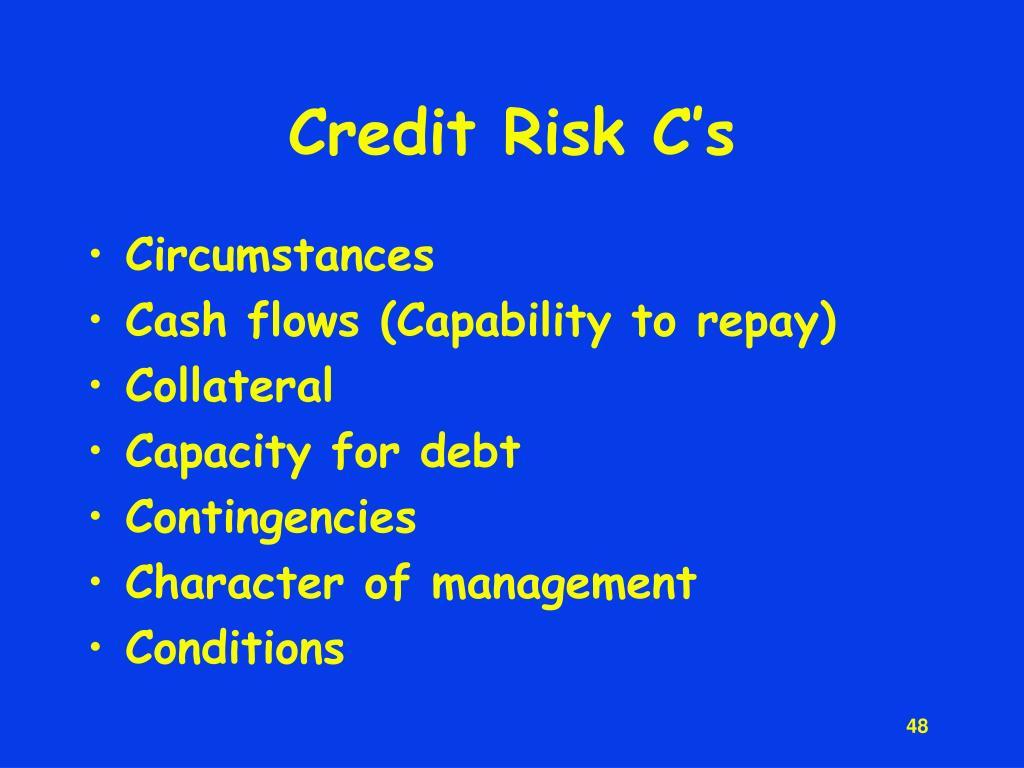 Credit Risk C's