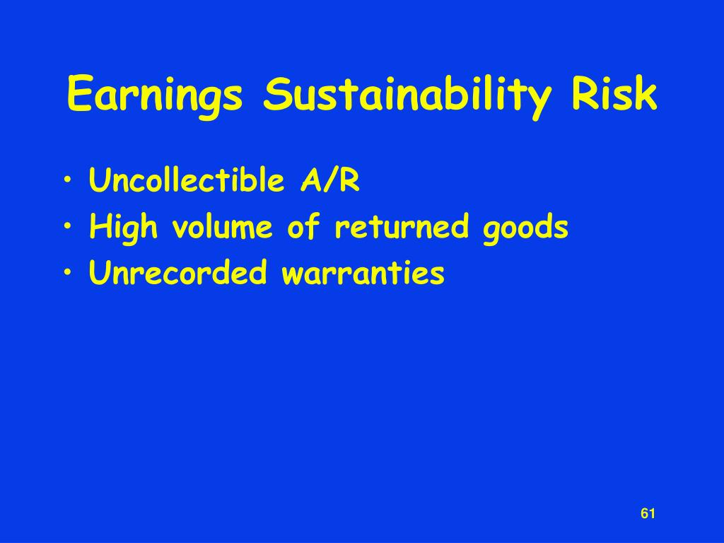 Earnings Sustainability Risk