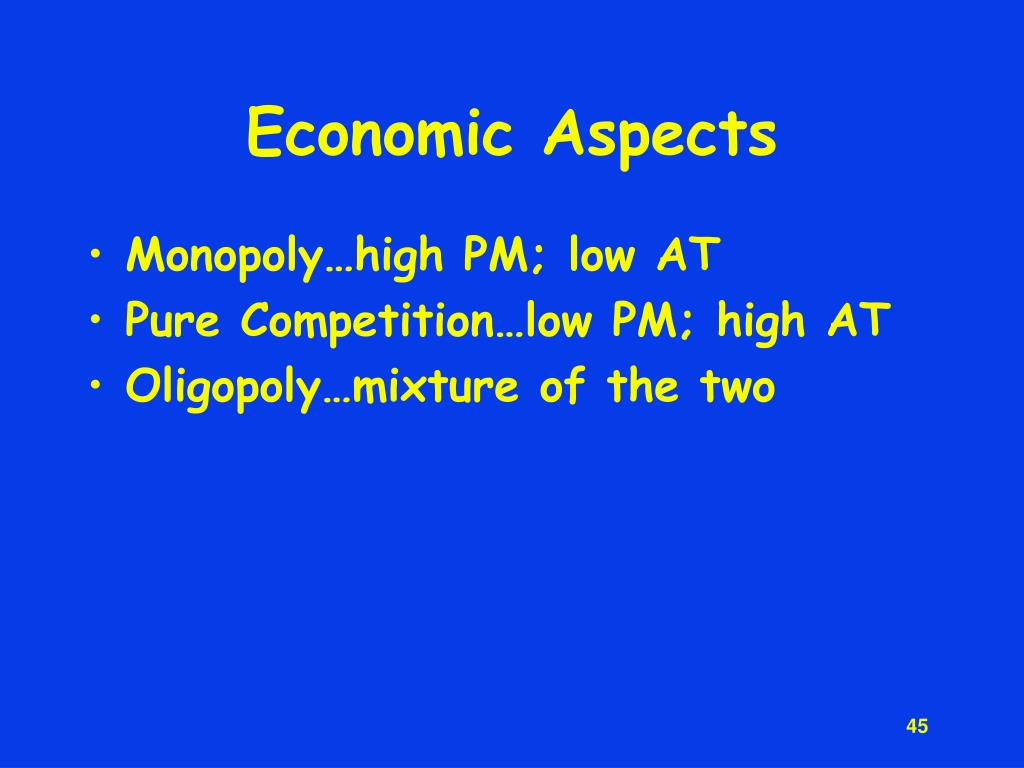 Economic Aspects