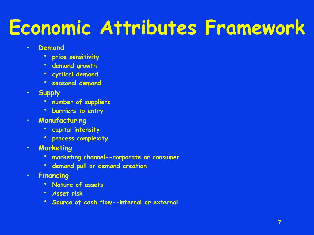 Economic Attributes Framework