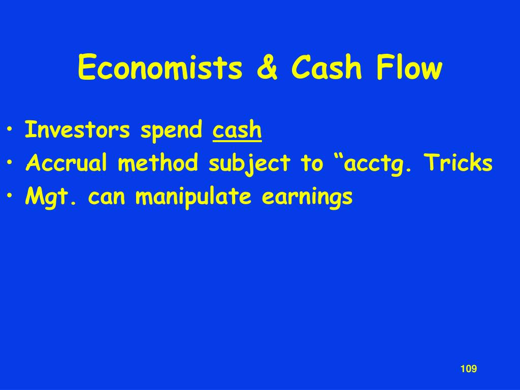 Economists & Cash Flow