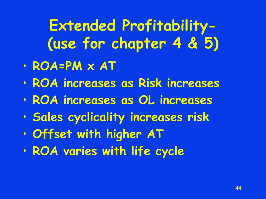 Extended Profitability-