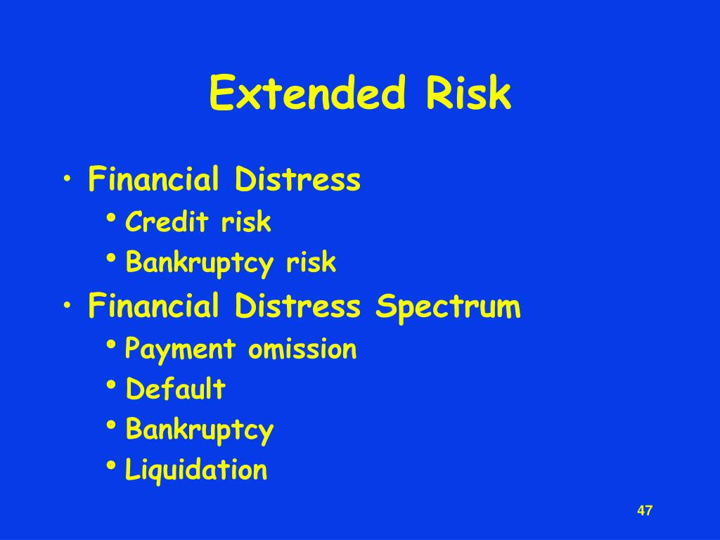 Extended Risk