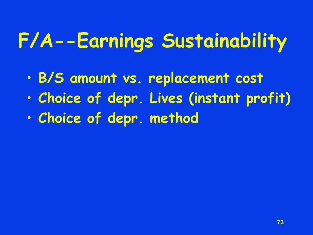 F/A--Earnings Sustainability